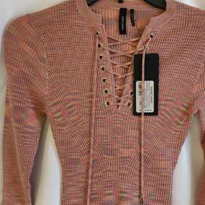 MARCIANO sweater dress, multi colored